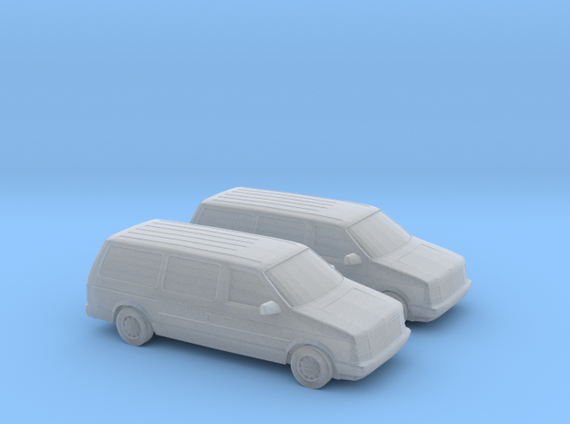 1/160 2X 1987-90 Dodge Grand Caravan in Smooth Fine Detail Plastic