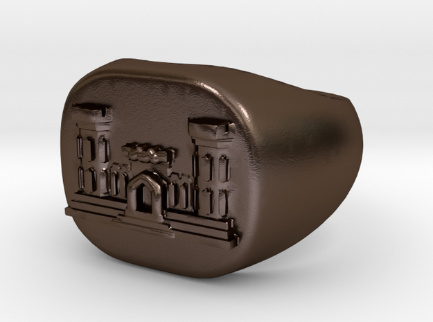 Combat Engineer Army Ring 3d printed