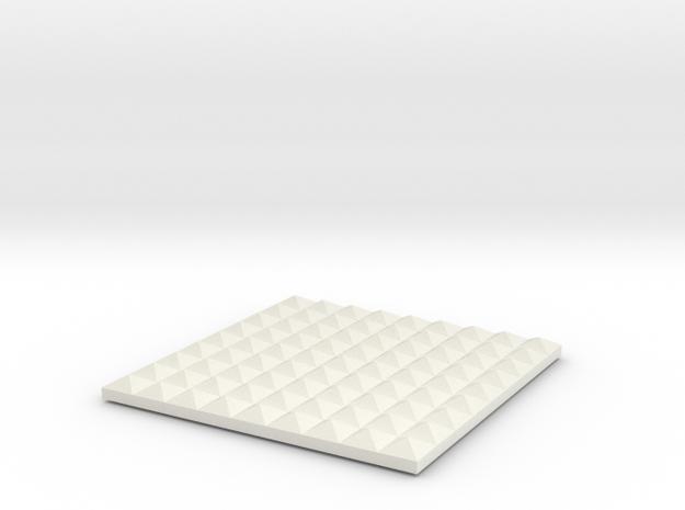 Box Top in White Natural Versatile Plastic