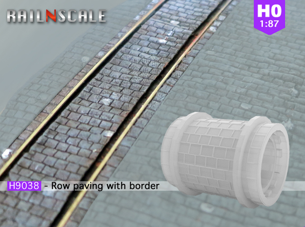 Row paving with border (H0)