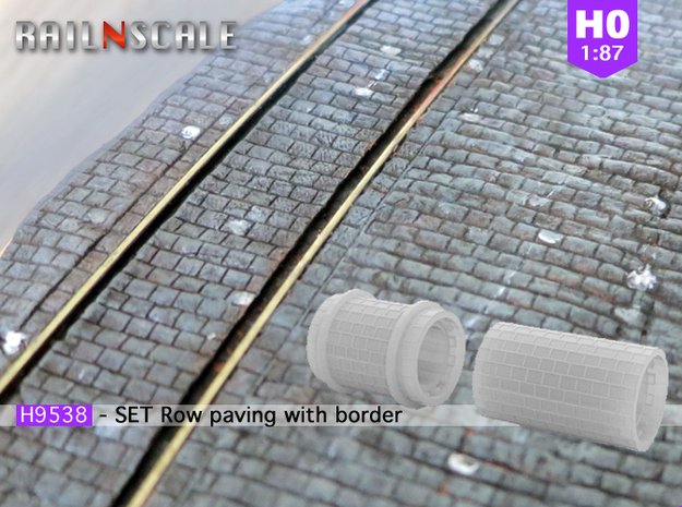 SET Row paving with border (H0)