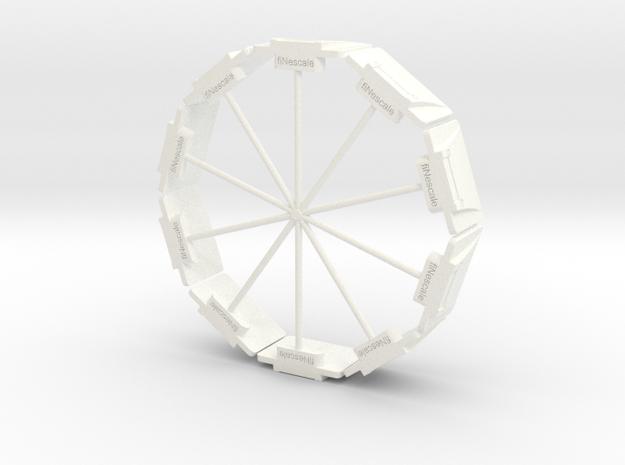 DIN Plaat 1op50 Cirkel in White Processed Versatile Plastic