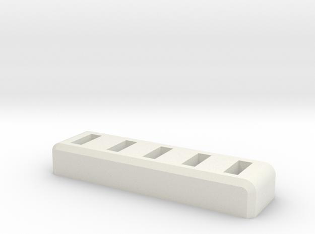 Standard 5xUSB/Flashdrive Holder in White Strong & Flexible