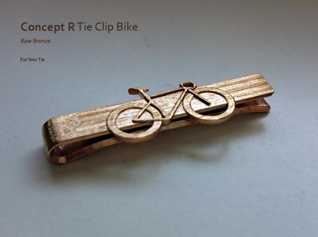 Tie Clip Bike in Raw Bronze