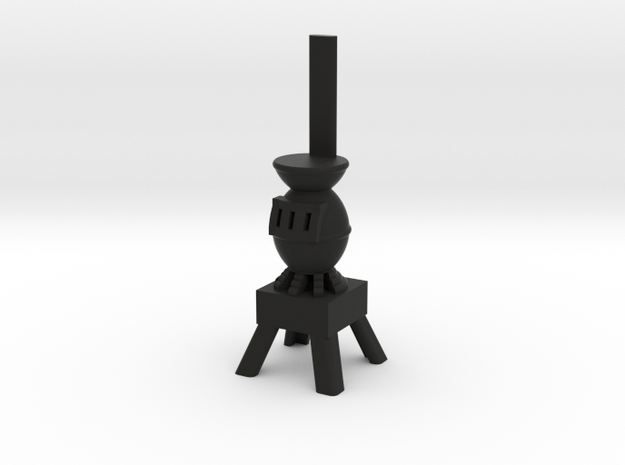 Potbelly Stove - HO 87:1 Scale in Black Natural Versatile Plastic