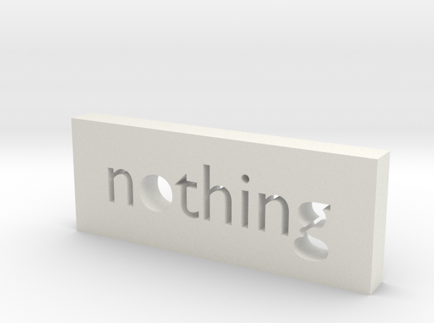 Nothing in White Natural Versatile Plastic