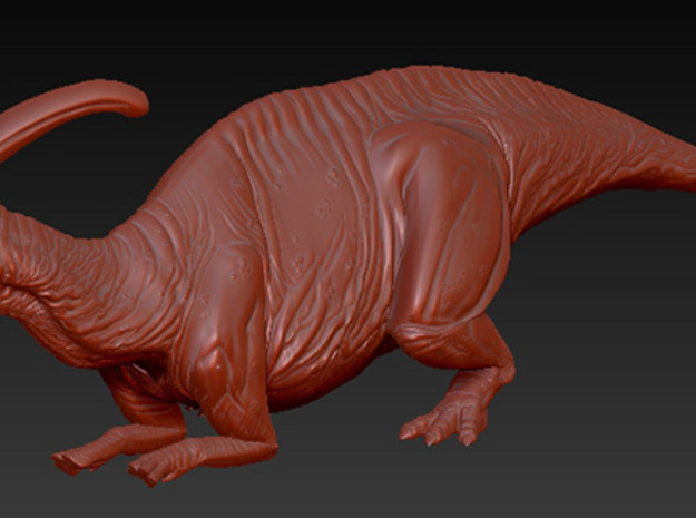 1/40 Parasaurolophus - Prone Alternate in White Natural Versatile Plastic