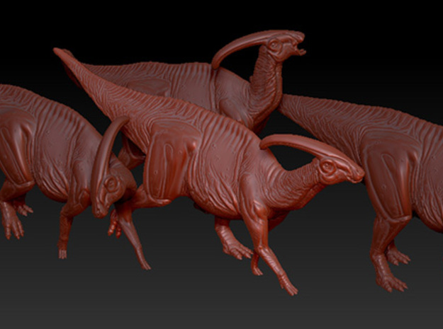 1/40 Parasaurolophus - Walking 3d printed Example of several models from the Herd Set.