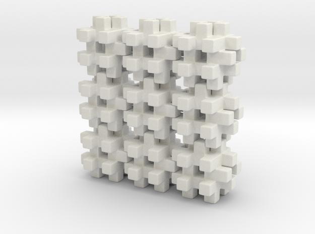 Buildblocks Variant 3v5 in White Natural Versatile Plastic