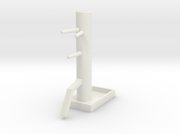 Wooden Dummy04-print in White Natural Versatile Plastic