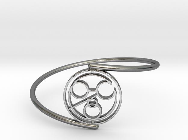 John - Bracelet Thin Spiral in Polished Silver