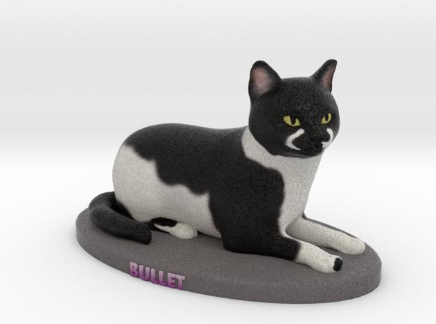 Custom Cat Figurine - Bullet in Full Color Sandstone