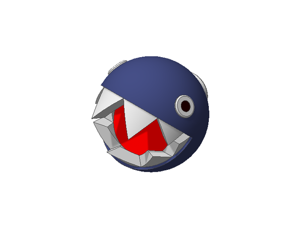 Super Mario Chain Chomp 1/2inch 3d printed