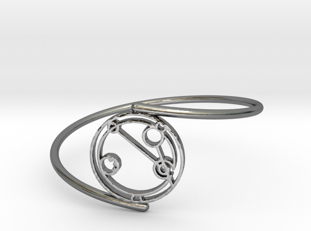 Abigail - Bracelet Thin Spiral in Polished Silver