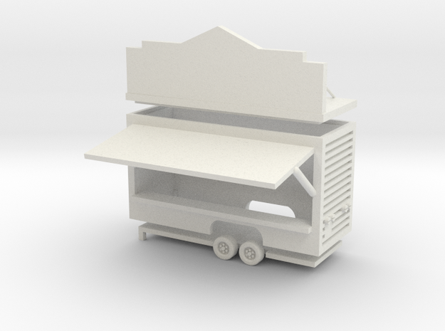 Gametrailer - 1:87 (H0 scale) in White Natural Versatile Plastic
