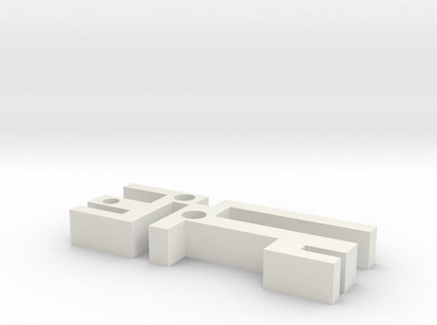 Labyrinth Pendant in White Natural Versatile Plastic