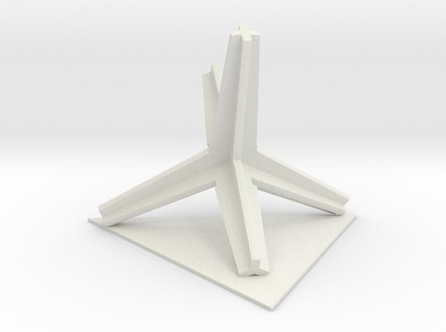 2015052605DaleStemenDesignTrimTripodTriangle1100 in White Natural Versatile Plastic