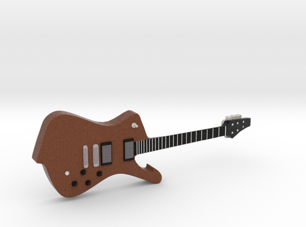 Iceman Shape Guitar 1:18 in Full Color Sandstone