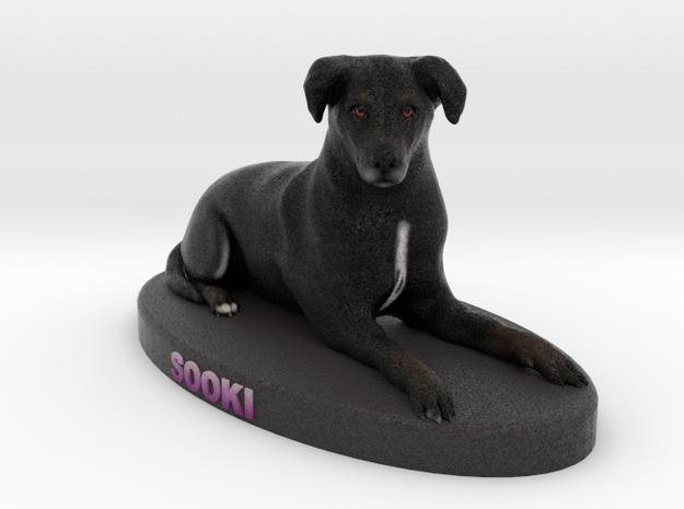 Custom Dog Figurine - Sooki in Full Color Sandstone