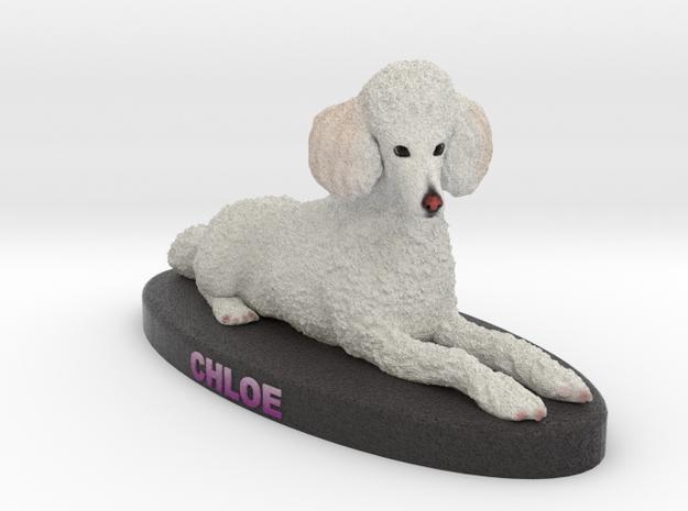 Custom Dog Figurine - Chloe in Full Color Sandstone
