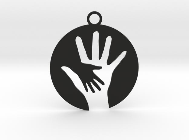 Hand To Hand in Black Natural Versatile Plastic