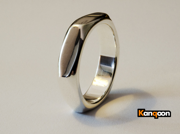 Barbara - Nut Ring in Polished Silver: 6 / 51.5