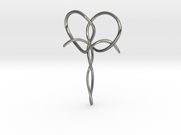 Interwoven Faith in Polished Silver