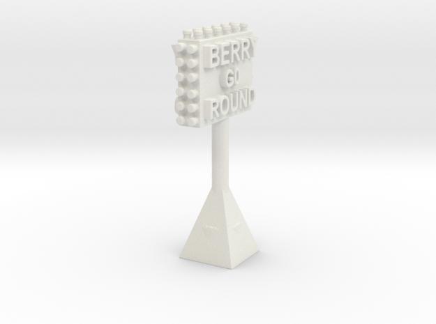 BERRYGORIUNDSIGN in White Natural Versatile Plastic