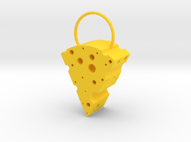Cheese Locket in Yellow Processed Versatile Plastic