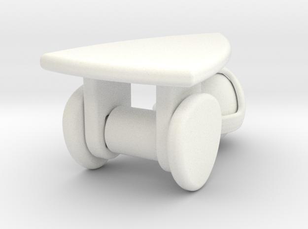 Reuleaux Cart in White Processed Versatile Plastic