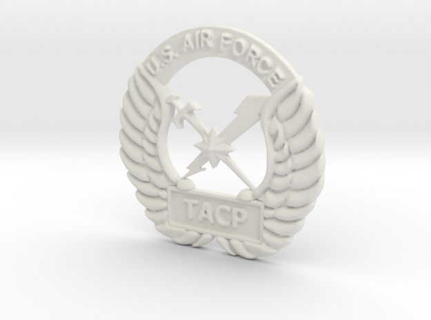 6 inch Tacp Crest in White Natural Versatile Plastic