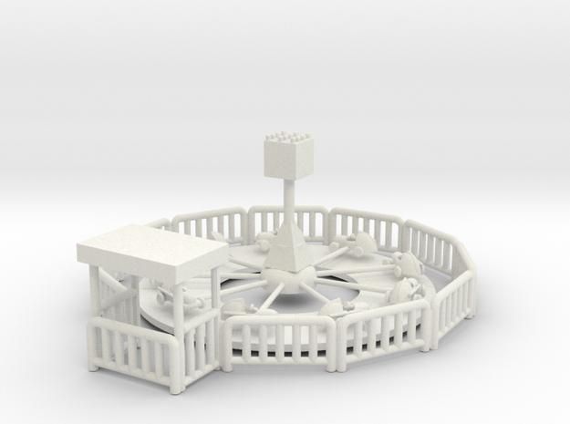 Miniatureracersassembled in White Natural Versatile Plastic