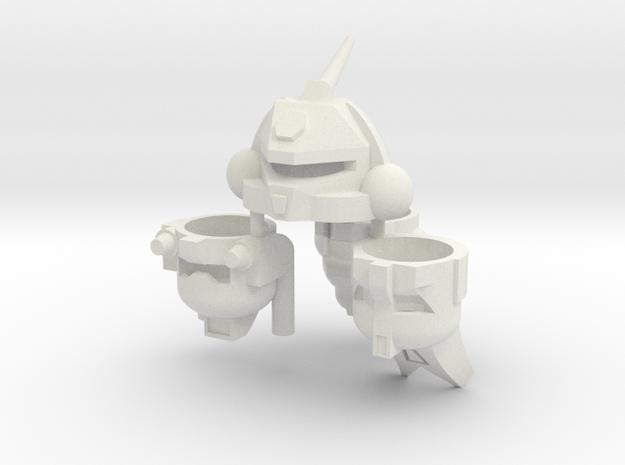 Robohelmets: Deluxe Bugs in White Natural Versatile Plastic