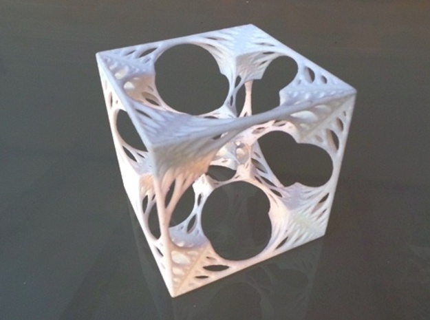 Organic HyperMenger Fractal 3d printed White Strong & Flexible