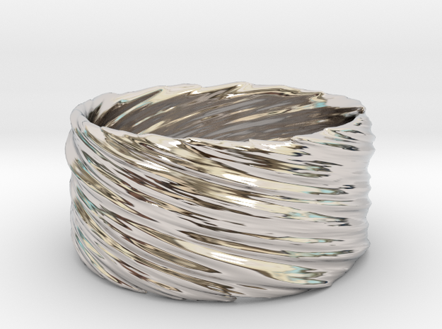 Twisted No.1 in Rhodium Plated Brass
