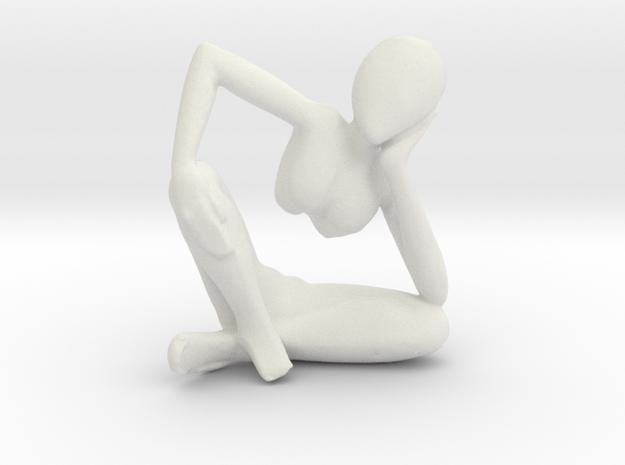 African Sculpture in White Natural Versatile Plastic