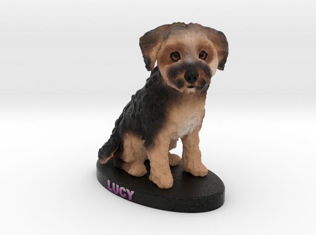 Custom Dog Figurine - Lucy in Full Color Sandstone