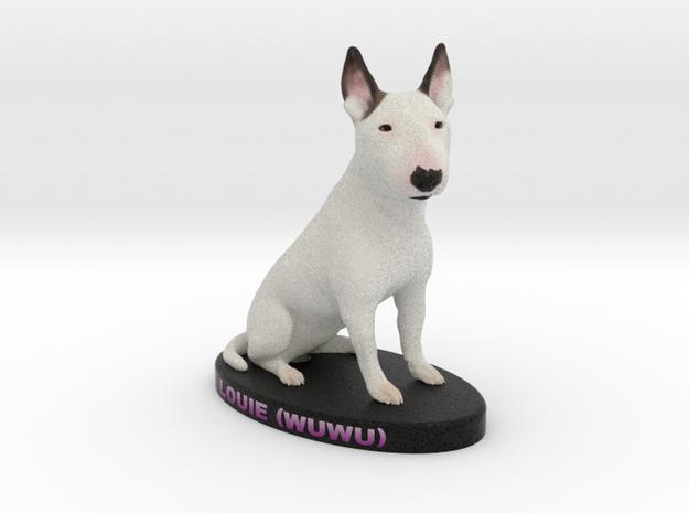 Custom Dog Figurine - Louie in Full Color Sandstone