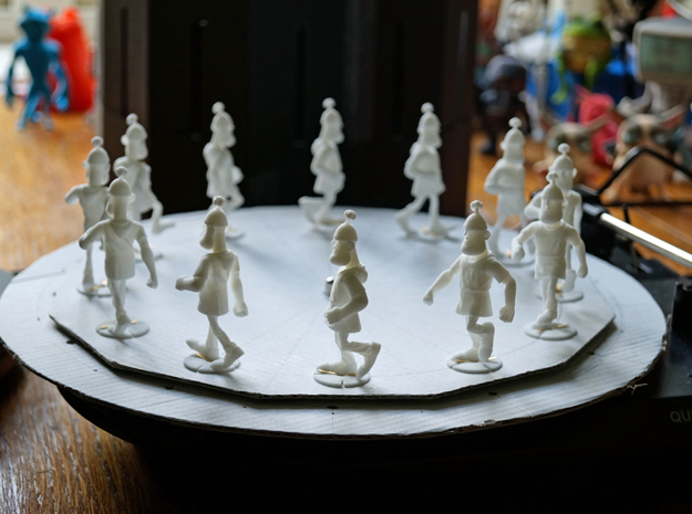 Zoetrope Walk Sequence in White Natural Versatile Plastic