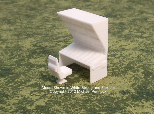 CP04 Bridge Operator's Station (28mm) in White Natural Versatile Plastic