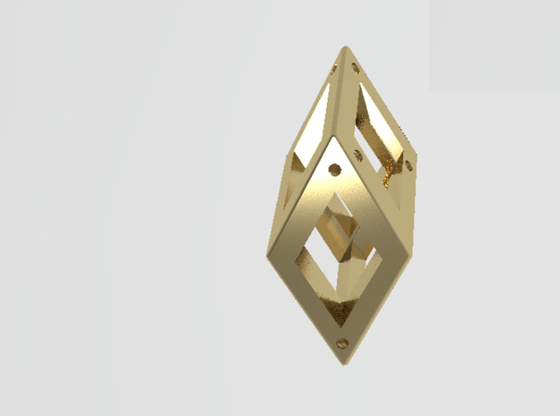 Crystal Dice Pendant (Pips) 3d printed