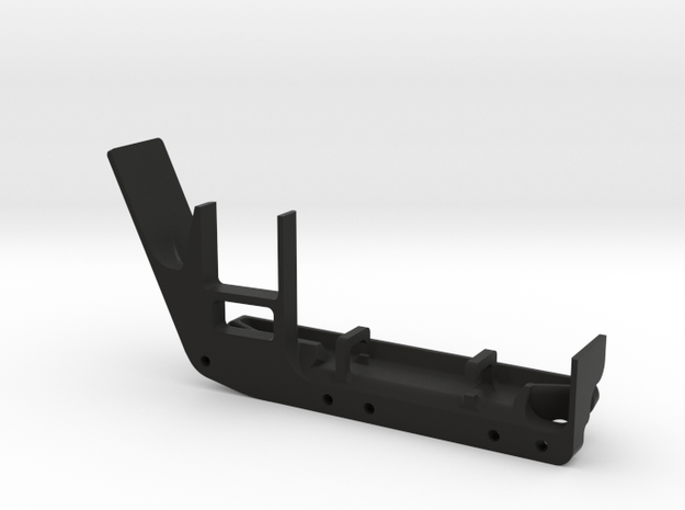 JeepTj Custom Kit-Skidplate With Battery Mount dx in Black Natural Versatile Plastic