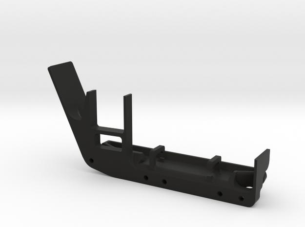 JeepTj Custom Kit-Skidplate With Battery Mount dx in Black Natural Versatile Plastic
