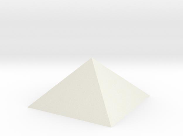 Pyramidincube in White Natural Versatile Plastic