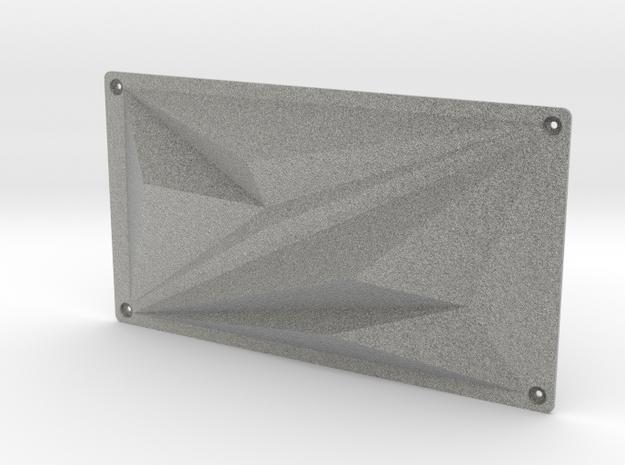Minimalistic front panel for Fury X GPU in Metallic Plastic