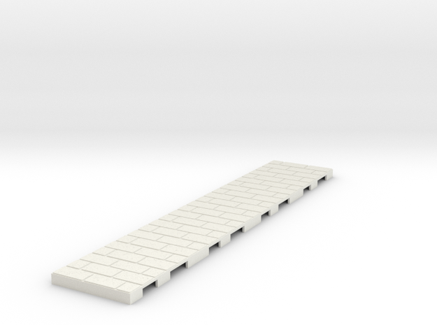 P-165stg-straight-long-wedge-1a in White Natural Versatile Plastic