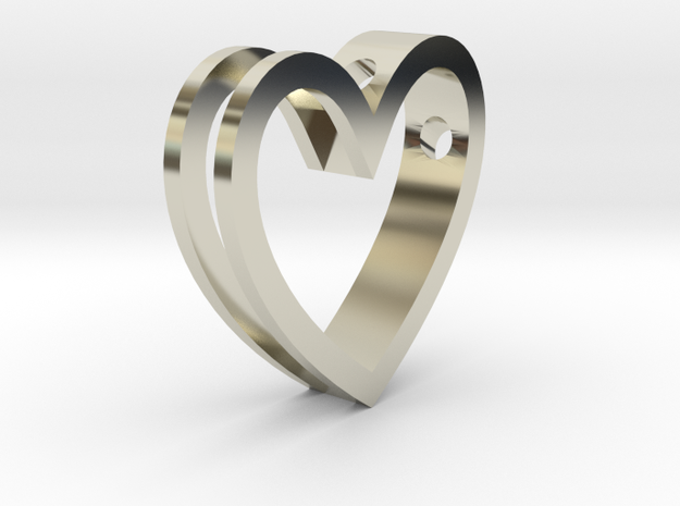 One Love Pendant 3d printed