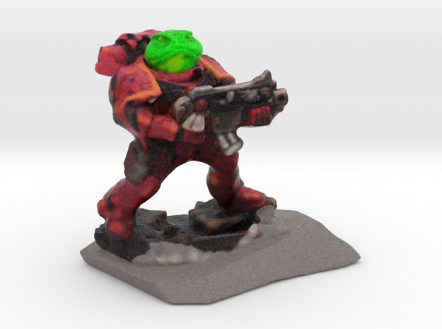 Spacemarine Frog70mmhollow2 in Full Color Sandstone