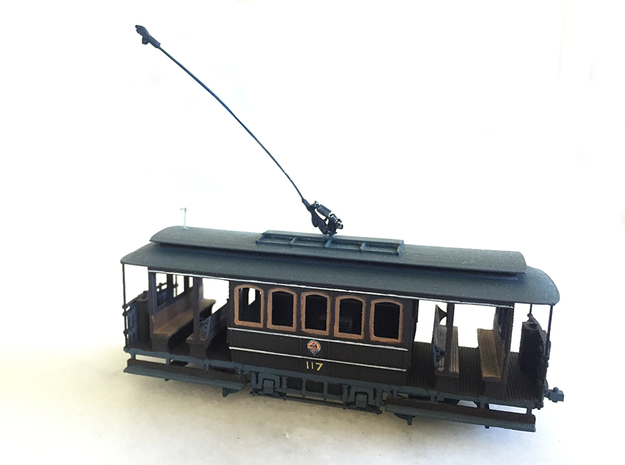 Sydney D Class Tram HO 1:87 in Smooth Fine Detail Plastic