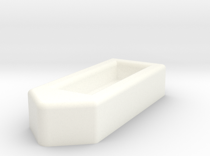 Render of ship in polished white strong & flexible
